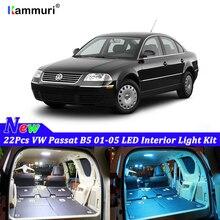22 шт. белые светодиодные с CANBUS салона комплект ламп для Volkswagen VW Passat B5 2001-2003 2004 2005 светодиодный внутренний светильник комплект