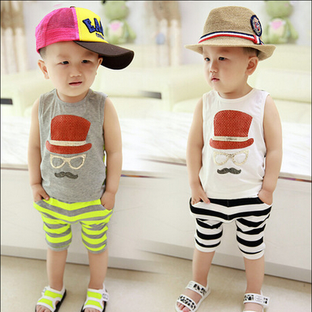 fc72dd32ae43 2016 boy casual summer vest suit vest piece fitted baby clothes 1-2-3 years  old children 3-6 months