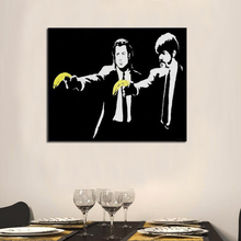 Abstract Handcraft OIL PAINTING ON CANVAS Pulp Fiction 20x28 Decorative Pictures Painting Home Decor faulks on fiction