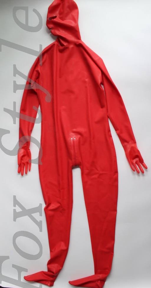 0.6MM heavy Latex full bodysuit for woman sexy rubber latex zentai catsuit made from latex sheet