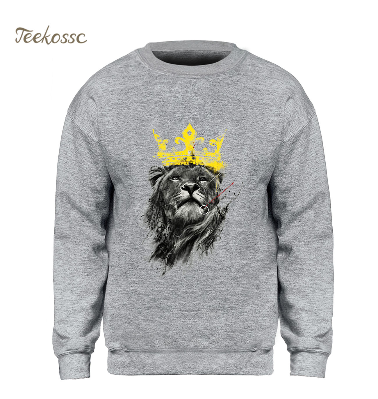The Lion King Sweatshirt Men Cool Printed Hoodie Black Gray White Sweatshirts 2018 Winter Autumn Fleece Hoody Movie Streetwear