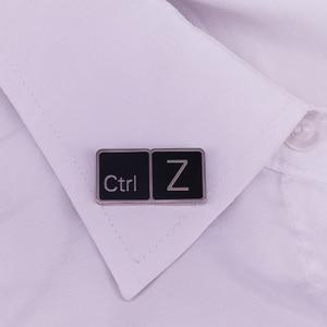 Image 3 - Ctrl Z Lapel Pin Geek gift Keyboard Badge