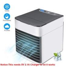 Портативный мини USB кондиционер, воздушный охладитель, увлажнитель, очиститель, светодиодный, Персональный вентилятор, вентилятор воздушного охлаждения