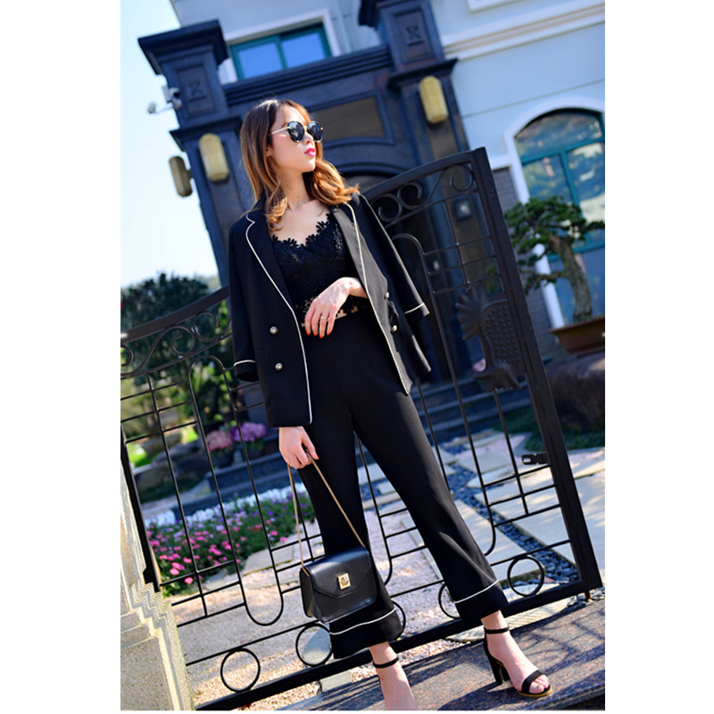 Pant Suits Costumes for women Office Business Uniform Styles Elegant Pant Suits New Formal Work Wear Sets