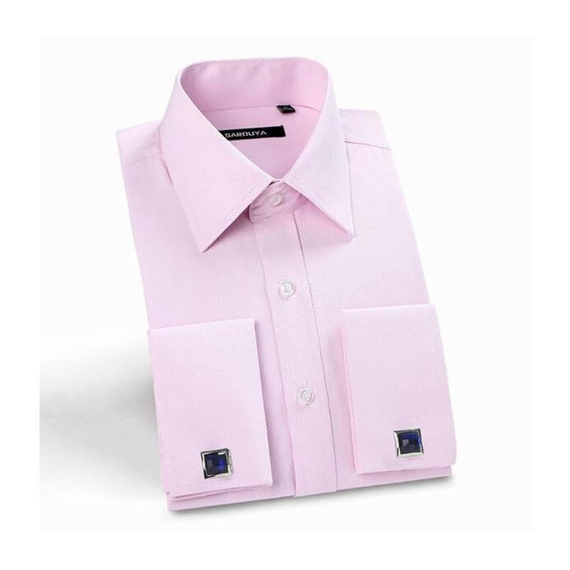 Francés Botón de la Camisa Camisas de Vestir Para Hombre Marca ...
