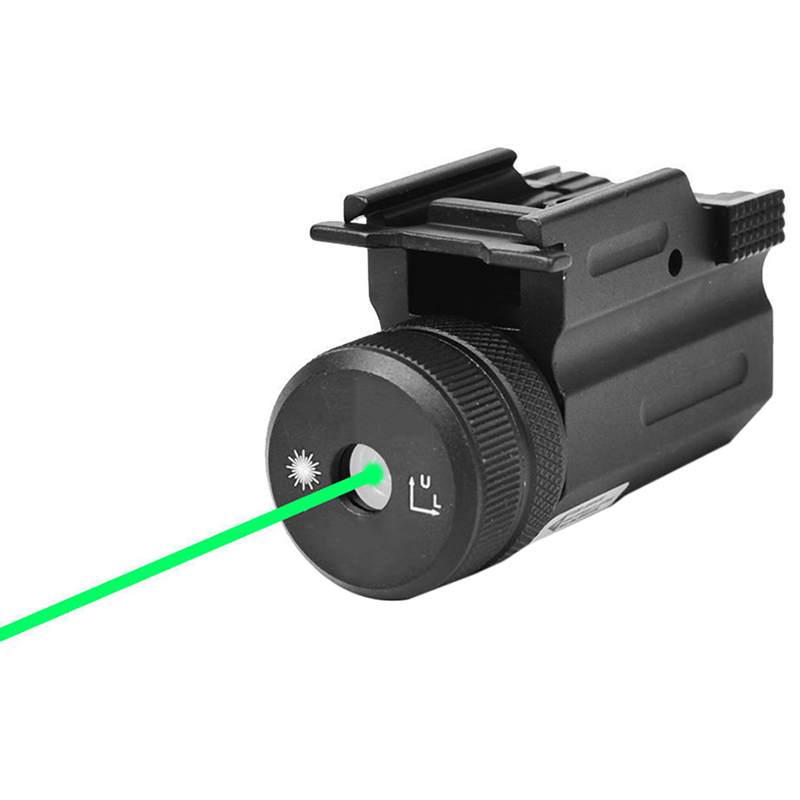Hunting Accessories Military Gear Power Green Dot Laser Sight QD Switch Rail Mount For Pistol Rifle Glock 17 19 22 20mm