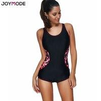 JOYMODE Swimsuit For Women One Piece Plus Size Slimming Tummy Control Sports Swimwear Bodysuit Printed Push