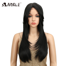 """Noble 24"""" Long Straight Wig High Temperature Fiber Side"""