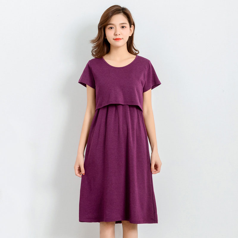 Short Sleeve Nursing Dresses Maternity Clothes For Pregnant Women Modal Feeding Dress Pregnancy Breastfeeding Clothing Gravidas maternity dresses nursing dress autumn winter pregnancy clothes for pregnant women dresses breastfeeding maternity clothing