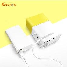 Gigxon-portátil mini ayuda 1080 p proyector con usb/sd/av/hdmi de entrada para tv/película/juego/arte de trabajo/camping proyector de bolsillo