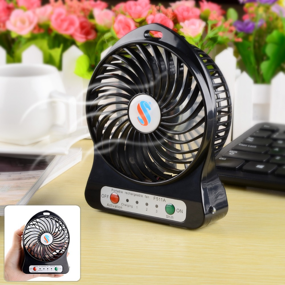 Portable Mini Table Fan With Led Light