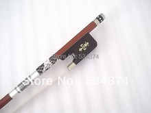 цена на Top quality  Carved with British designs CELLO bow  with best Mongolia horse tail and best elastic,size 4/4,1/4,1/8