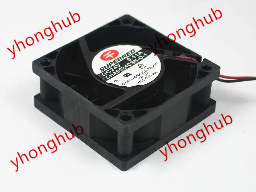Emacro For SUPEREED CHA6024CSN-O-1 DC 12V 0.11A 2-leder 60x60x25mm Server Square Fan