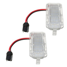 2 Pcs LED Rear Number License Plate Light Bright White Number Plate Lamp For Ford For Fiesta For Focus For Kuga For Mondeo