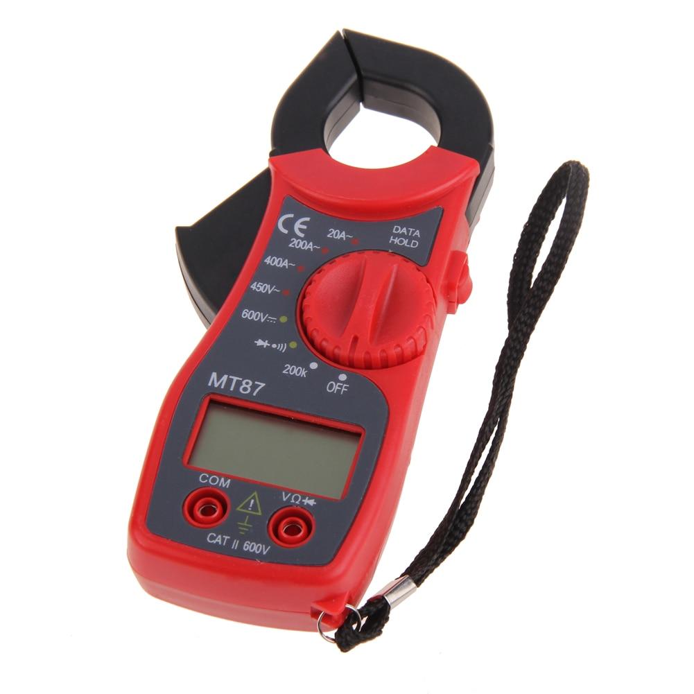 Mini Digital LCD abrazadera multímetro voltímetro amperímetro ohmmetro voltímetro multímetro electrónico