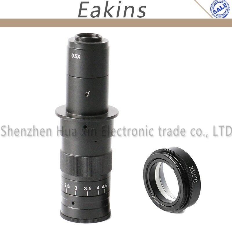 180X промышленный микроскоп c-крепление цифровой камеры объектив 0.5X адаптер + 0.35X Барлоу вспомогательный L