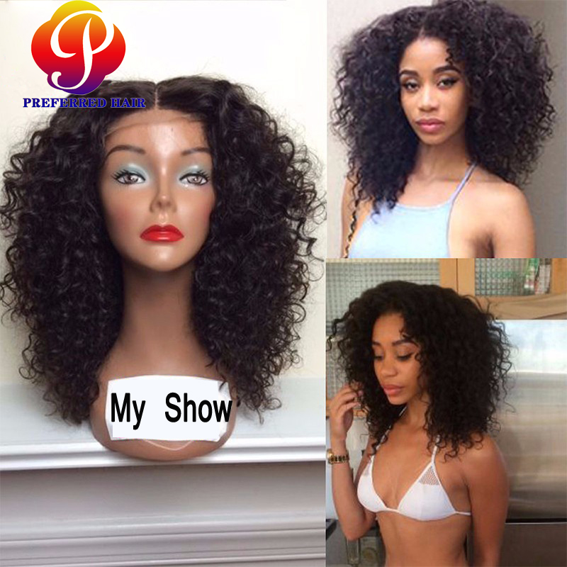a6b2c3915 Malaysian Short Curly Lace Front Wigs For Black Women Full Lace Human Hair  Wigs With Baby Hair Cheap Bob Short Curly Afro Wigs