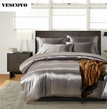Luxury Mulberry silk bedding sets duvet cover bedspread bed sheet king/queen/full size(China)