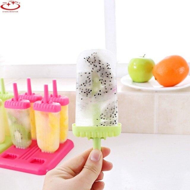 6 шт./1 Набор емкости для мороженого зеленый летний DIY палочка для мороженого инструменты форма для крема кухонные инструменты для приготовления пищи конфеты бар