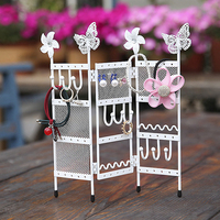 2017 Mordoa Lover S Festival Wrought Iron Reveal Mini Screen Jewelry Display Shelf Jewelry Hand Catenary
