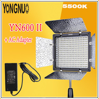 YONGNUO YN600L II 2.4Ghz Monochrome 5500K LED Video Light + AC Adapter Kit Set Support Remote Control by Phone App For Interview