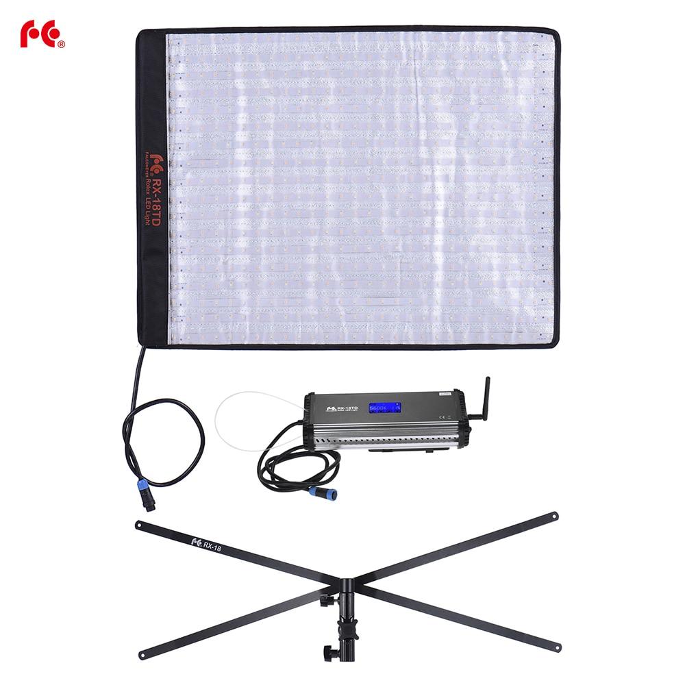 bilder für Falconeyes rx-18td led-videoleuchte rollbar tuch lampe mit lcd touchscreen controller + x-form unterstützung für canon nikon sony