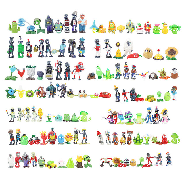 14 styles Plants vs Zombies PVZ Toy Plants Zombies PVC Action Figures Toy Doll Set for Collection Party Decoration