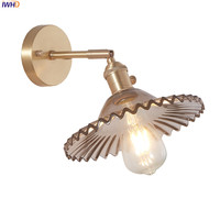 IWHD Nórdico Cobre Luzes Luminárias Sala Espelho Do Banheiro Luz Moderno Parede de Vidro Do Vintage Lâmpada de Parede Arandela Edison Wandlamp