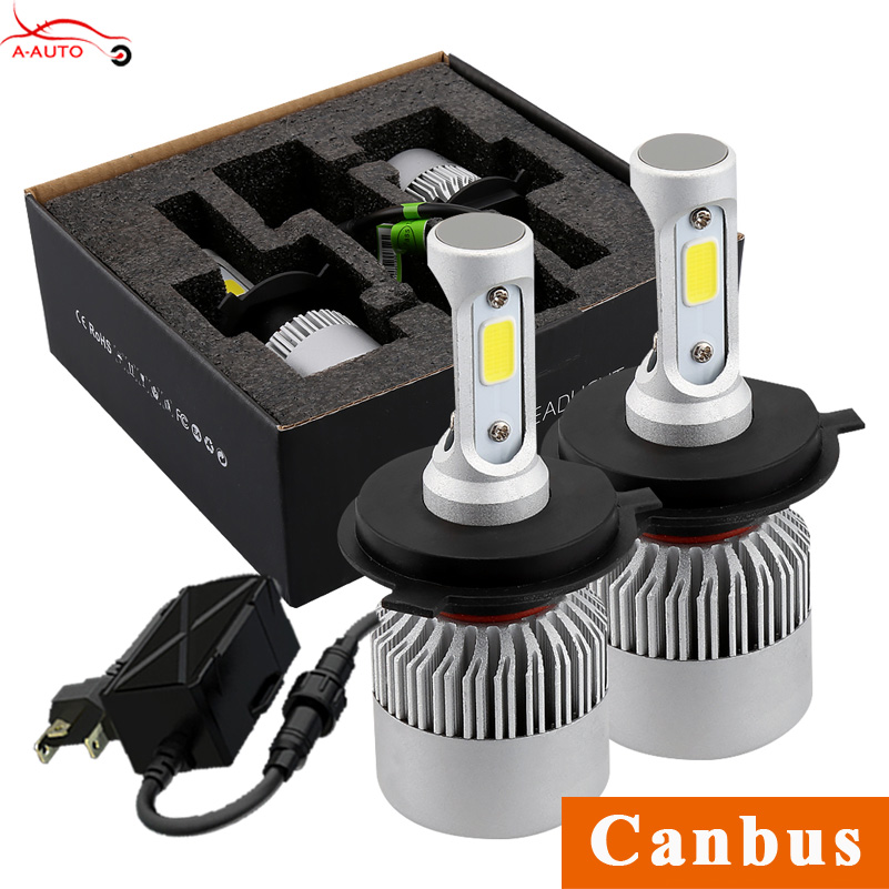 Car Headlights 72W Canbus H7 H4 H1 LED COB High Low Beam Fog Lights Bulb For