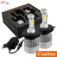 Car Headlights 72W Canbus H7 H4 H1 LED COB High Low Beam Fog Lights Bulb For
