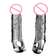 vibrator ball loop ring Extend Penis sleeve condom Reusable Impotence contraceptive delay ejaculation G point Sex toys for Men