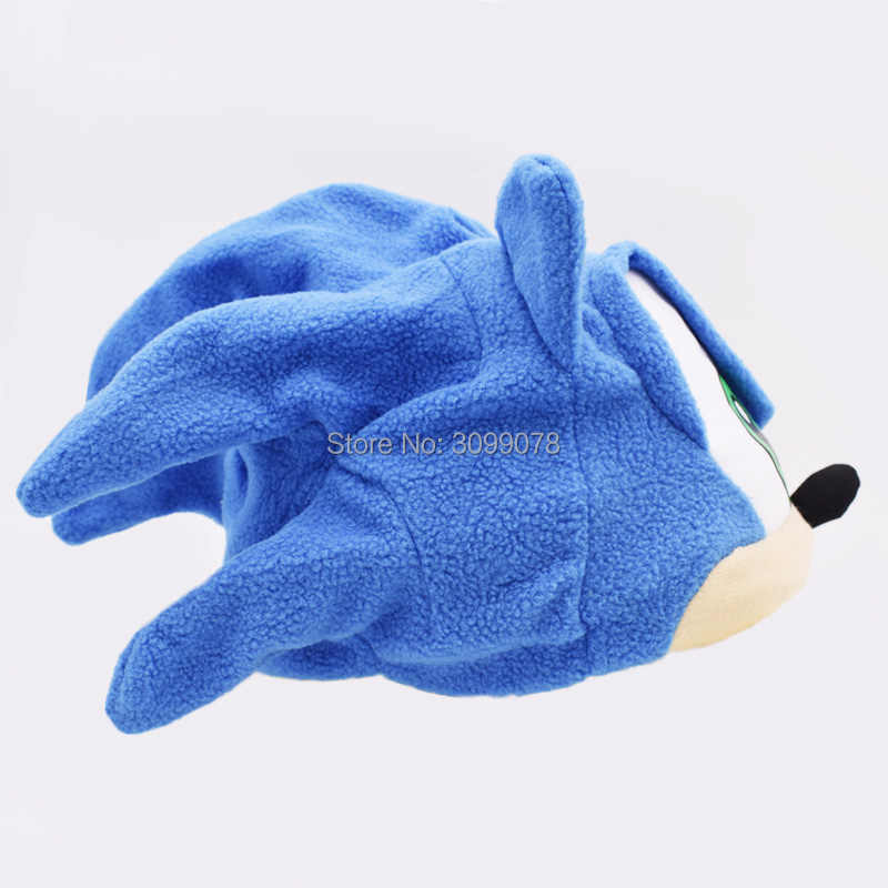 O Envio gratuito de Sonic Velo Chapéu de Pelúcia Cosplay Trajes Azul Adolescente Presentes Brinquedos Brinquedos para Adultos