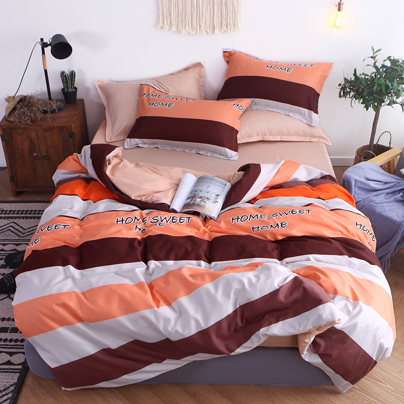 Duvet-Cover Pillowcase Bed-Sheet Queen Printed Sidehome King-Size Single/double-Ab Twin-Full