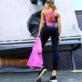 Roupa de treino de fitness Macacão sem encosto sexy trabalhar fora dos impostos especiais de consumo com tiras bodysuit mulheres macacão feminino playsuit geral 961