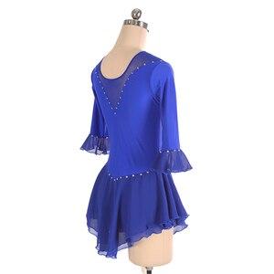 Image 5 - Nasinaya איור החלקה החלקה על קרח חצאית תחרות שמלה מותאם אישית לילדים נשים בחורה Patinaje התעמלות ביצועים 226