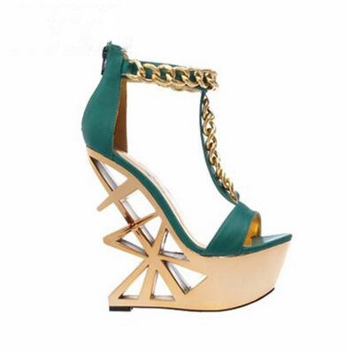 New Designer Fashion Women Shoes Strange Style High Heels Sandals Waterproof Platform Peep Toe Pumps Fashion Party Women Shoes women s new fashion peep toe high heels ladies patent leather pumps platform sexy strange heels shoes