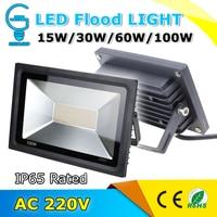 Waterproof IP65 LED Flood Light AC 220V Reflector Floodlight 15W 30W 60W 100W Warm Cold White