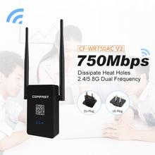 COMFAST CF-WR750 V2 Wi-Fi роутера 750 Мбит/с 802.11 ac Dual Band 2.4 + 5.8 ГГц WI-FI Roteador Wi-Fi роутера wi-fi ретранслятор сигнала Extender