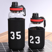 RUIDA 600ML 1000ML Large capacity glass ladies water cup student Couple fashion bottle creative  drinking glasses ST111