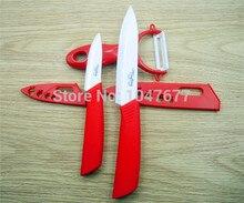 Envío libre herramientas de cocina cuchillo de cerámica 3 UNIDS cuchillos de cocina accesorios de cocina de 5 pulgadas 3 pulgadas cuchillo de cerámica set + pelador