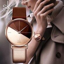 Shengke Fashion Women Wrist Watches Top Luxury Brand Ladies Geneva Quartz Clock Female Bracelet Waterproof Watch Gift Box K0095