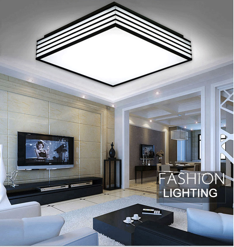 Bright Living Room Ceiling Lights Decorating Ideas With Corner Fireplace Super Round Square Dimmable Led 24w 36w For Home Office Bedroom Kitchen Dinning In From
