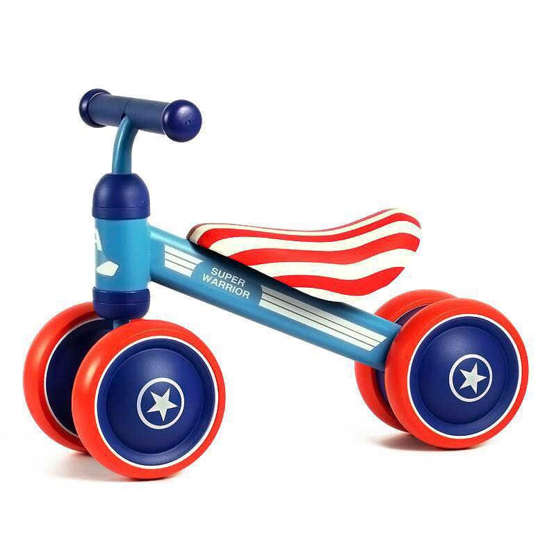 Calda di Marca Bambino Equilibrio Scooter Bambino Del Camminatore Del Bambino di Scooter Senza Piede Pedale di Guida A Quattro Ruote Della Bici Regalo per I Bambini giocattoli