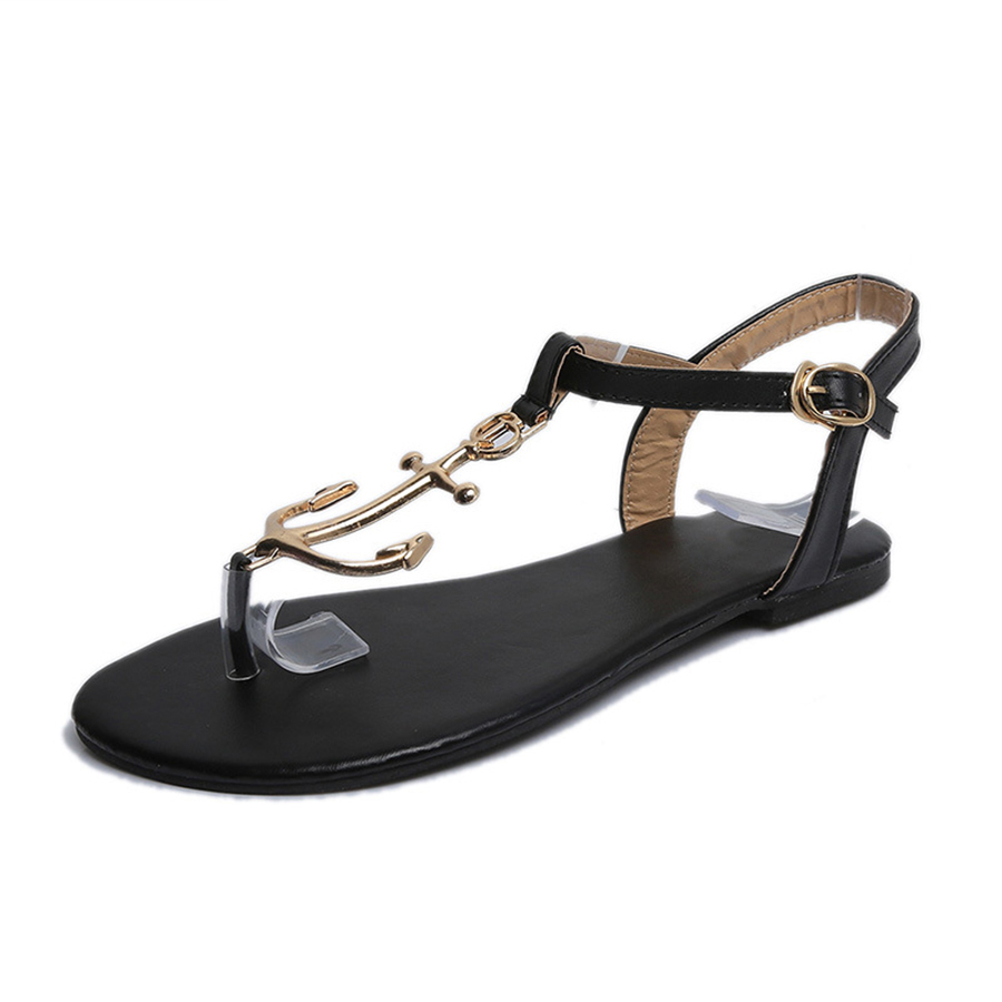 Summer Women Anchor Sandals Fashion Large 42 Size Beach Flats Sandals Woman Flip Flops Shoes Non-slip Sandalias Mujer wolf who summer women slippers buckle flats sandals fashion beach sandals leisure sandalias mujer high quality flip flops women