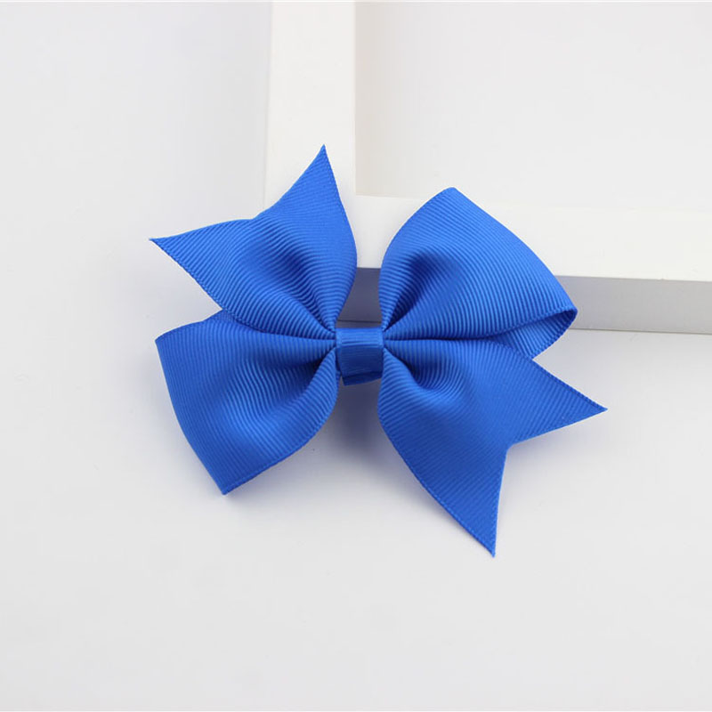 Новые модные маленькие заколки для волос для маленьких девочек, милые заколки для волос карамельного цвета с цветком, детские заколки, аксессуары для волос - Цвет: a06 Royal Blue