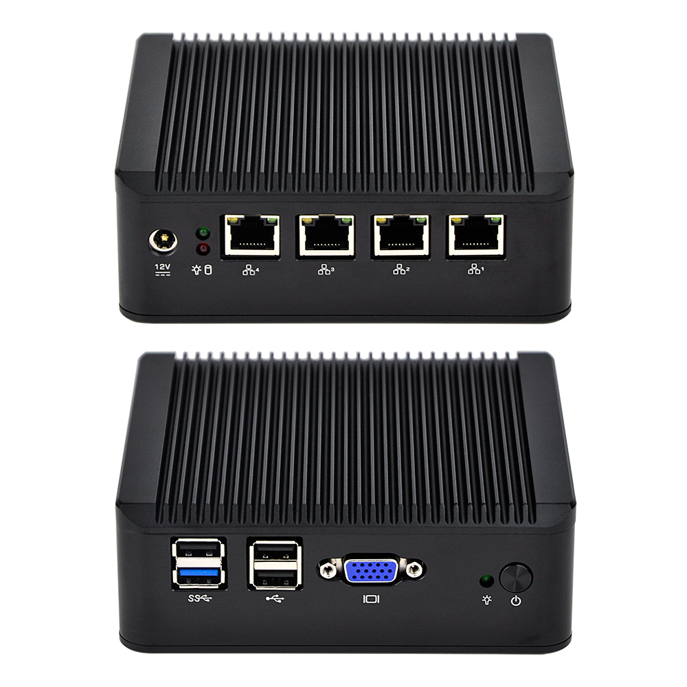 2017 New firewall computer with J1900 Quad core pfsense linux 16 04 Support SATA HDD Q190G4U