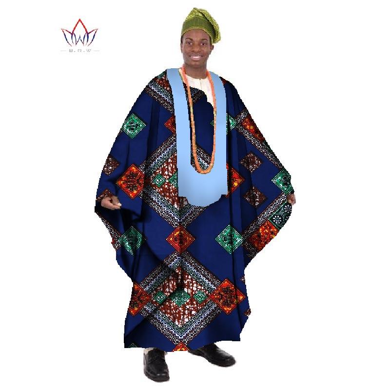 2017 Africain Imprimer Cire Sur Mesure Long Hommes Lâche Plus La - Vêtements nationaux - Photo 3