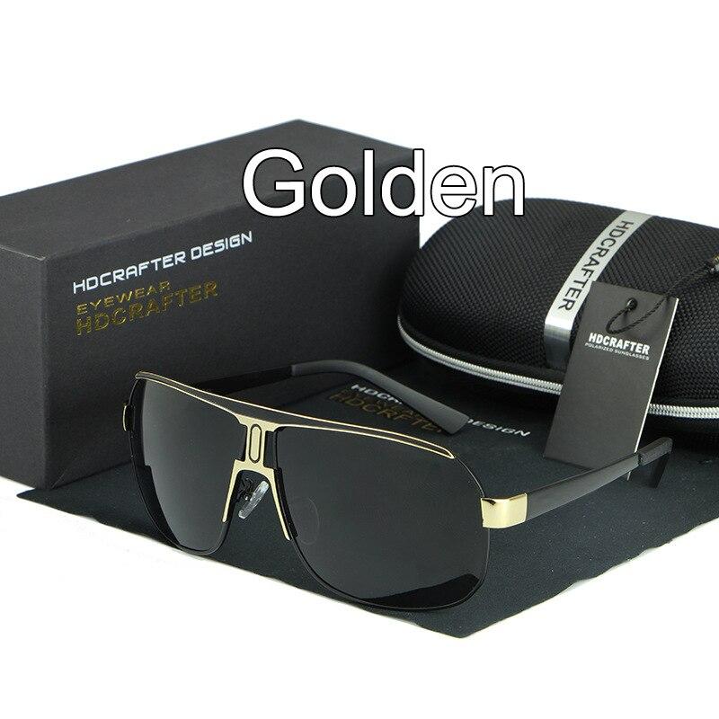 AOWEAR крутые мужские очки поляризованные солнцезащитные очки мужские роскошные брендовые Винтажные Солнцезащитные очки Модные солнцезащитные очки gafas de sol hombre - Цвет линз: C3 Gold