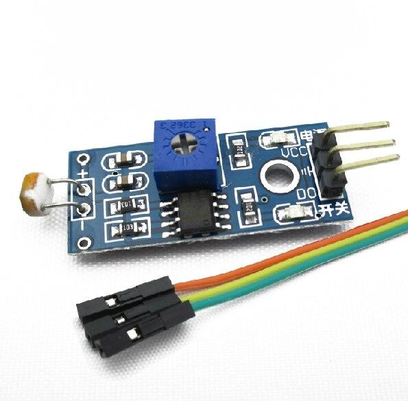 Free Ship With Track 10pcs Light Sensor Module Photoresistor Module Seek Light Module For Arduino Smart Car