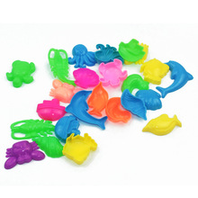 12PCS / Set Beach Sand Mögel Barn Polymer Lera Mögel Beach Sand Mögel Toy Set Sands Turtle Cartoon Animal Mögel Leksaker För Barn